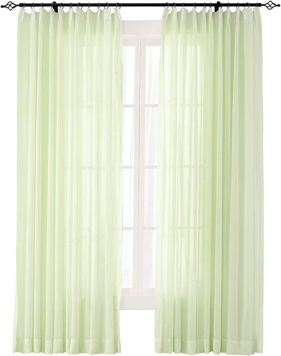 ChadMade Cortina para interiores y exteriores, lisa, transparente, plisada, amplia opulente, cortinas de gasa (1 panel), colección Scandina: Amazon.es: Jardín