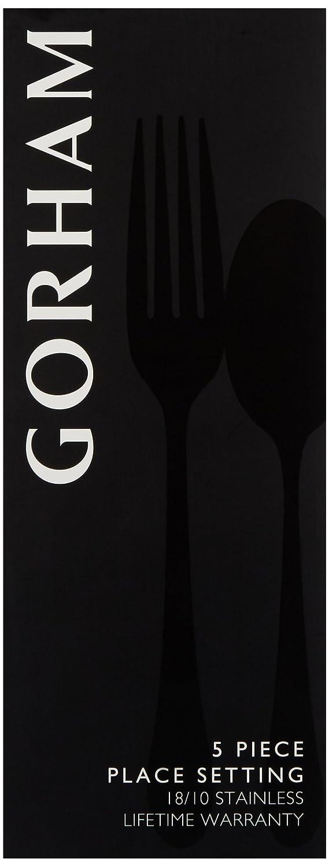 Gorham Studio 5-Piece Stainless Flatware Set Gorham Dinnerware 9367510