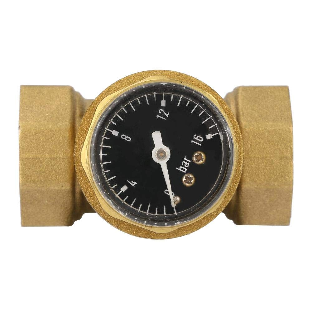 Pressure Reducing Valve, Water Control 1 inch Pressure Reducing Valve Brass Water Pressure Regulator with Gauge Meter by Keenso (Image #3)
