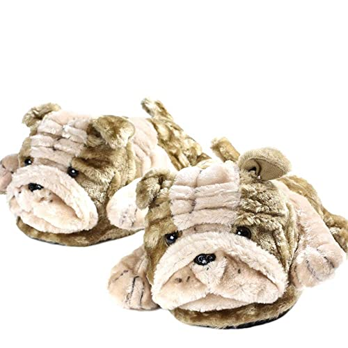 Sleeperz - Bulldog Ingles - Zapatillas de casa Animales Originales y Divertidas - Adultos