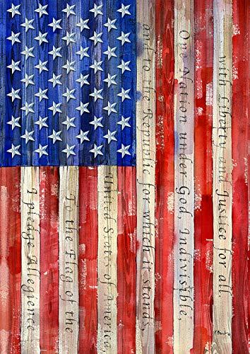 Toland Home Garden 1012220 Banner of Allegiance 28 x 40 inch Decorative, Pledge Patriotic, House Flag by Toland Home Garden
