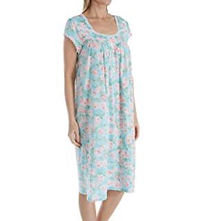 b60e3a3f24 Eileen West Mid-Length Cotton Modal Cap Sleeve Gown - Pacific Rose