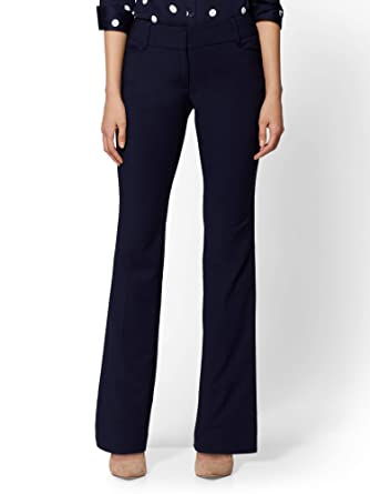 747ec83a452 Amazon.com  New York   Co. Women s Curvy Bootcut Pant - All-Season Stretch  - 7Th Avenue  Clothing