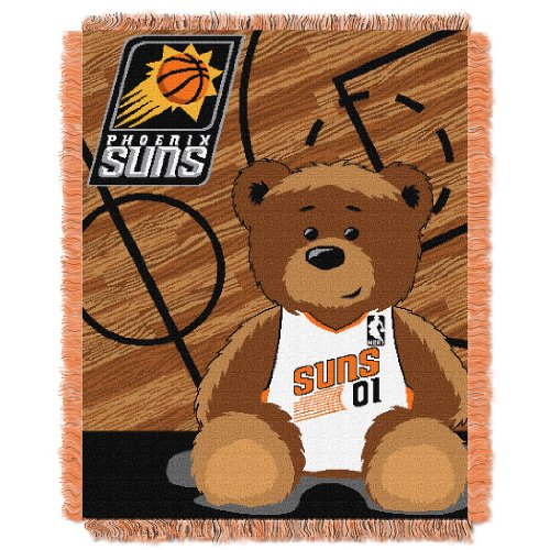 Phoenix Throw Suns - The Northwest Company Officially Licensed NBA Phoenix Suns Half Court Woven Jacquard Baby Throw Blanket, 36