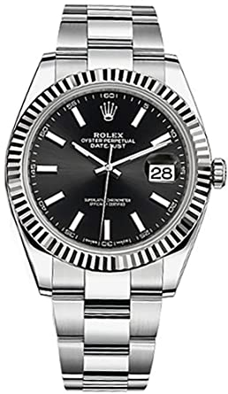 Amazon.com Rolex Datejust 41 Black Dial Stainless Steel