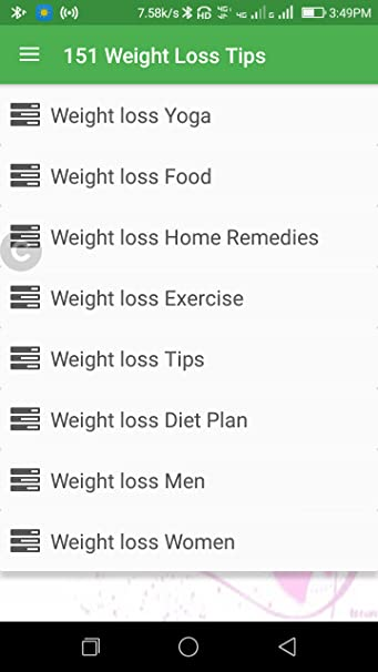 Amazon com: 151 Weight Loss Tips: Appstore for Android