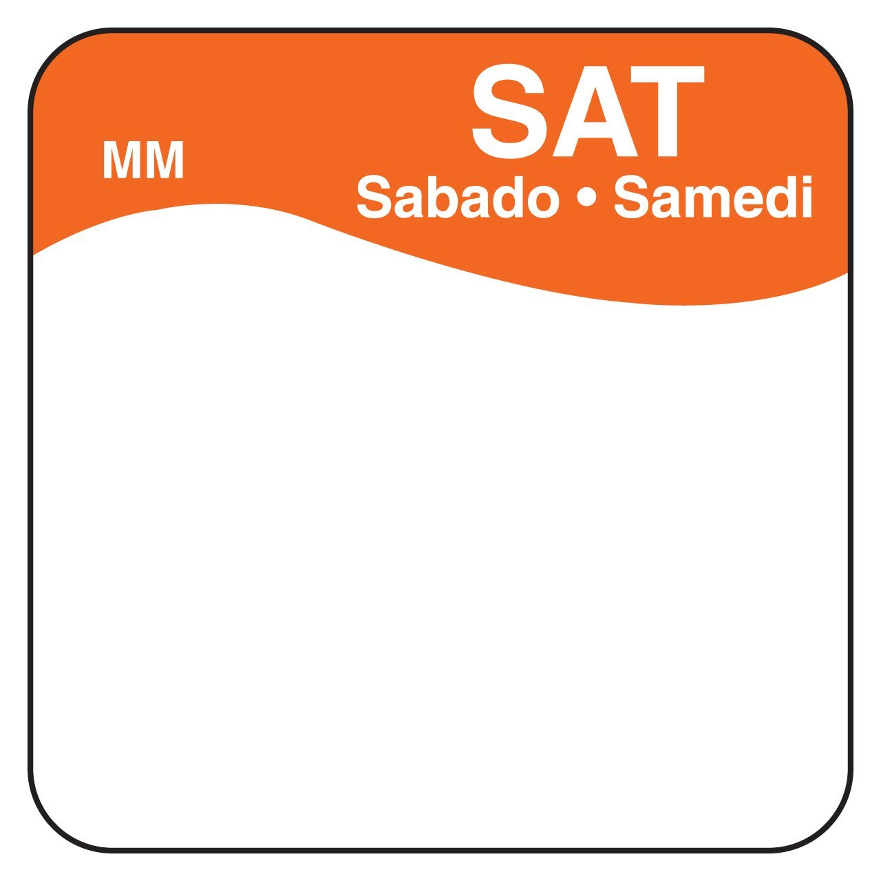 DayMark MoveMark Day of The Week Trilingual Removable Label, Saturday, 1