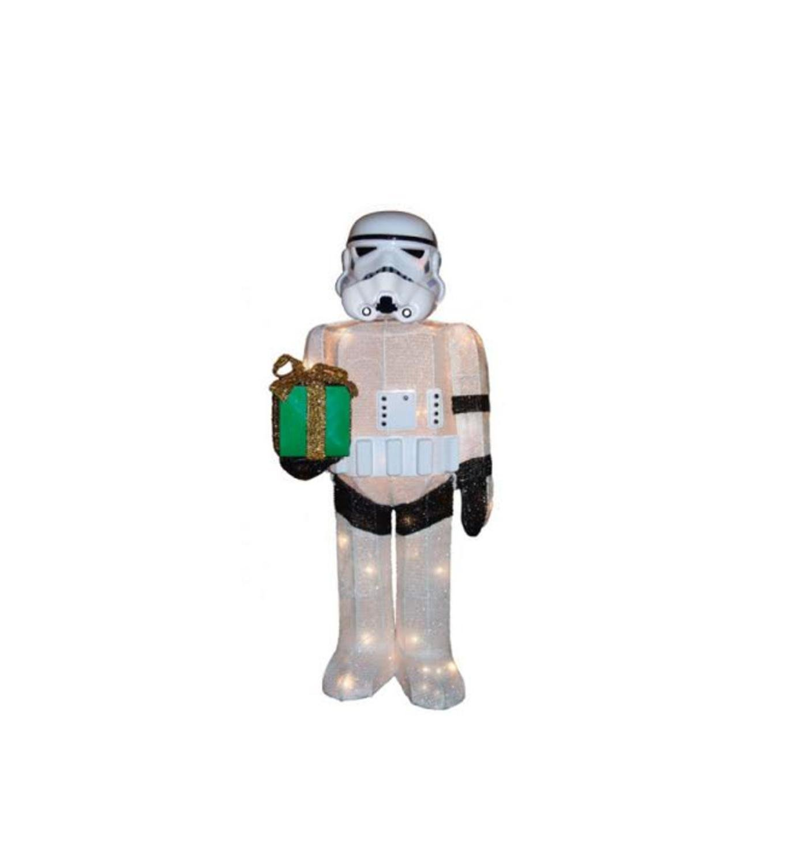 28'' Pre-Lit Soft Tinsel Star Wars™ Storm Trooper Christmas Yard Art Decorations - Clear Lights