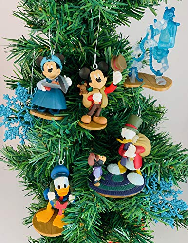 Ornaments Mickey's Christmas Carol 7 Piece Christmas Tree Set with Bob Cratchit, Emily Cratchit, Ebenezer Scrooge, Tiny Tim, Jacob Marley's Ghost, and Fred (Christmas Bob Carol Marley)