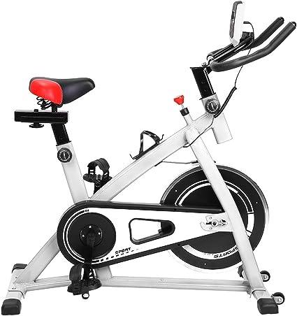 Sweepid - Bicicleta estática profesional para entrenamiento en interiores, hasta 200 kg, color blanco: Amazon.es: Deportes y aire libre