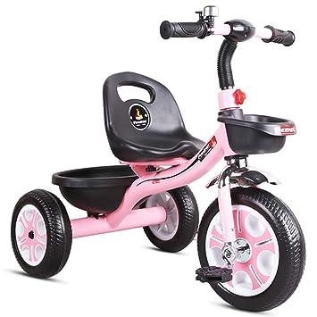 Fenfen Pedal para niños Triciclo Carro de bebé 2-6 años Bicicleta de montaña Asiento Ajustable en Bicicleta de montaña Fácil instalación (Color : Pink): ...