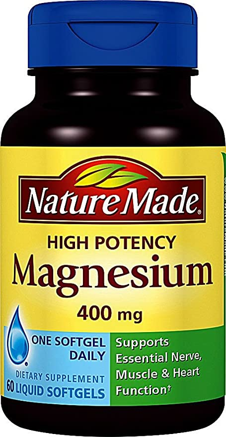Nature Made High Potency Magnesium 400 mg Softgel
