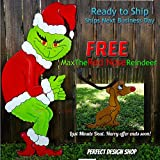 FREE MAX Grinch Stealing the Christmas Lights Handmade Wooden Yard Art Decor CUTE