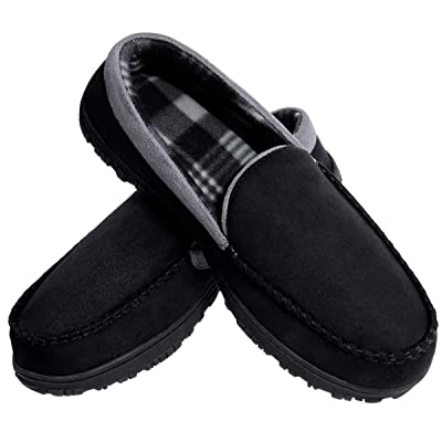 MIXIN Mens Comfortable Memory Foam House Moccasin Slipper Shoes | Slippers