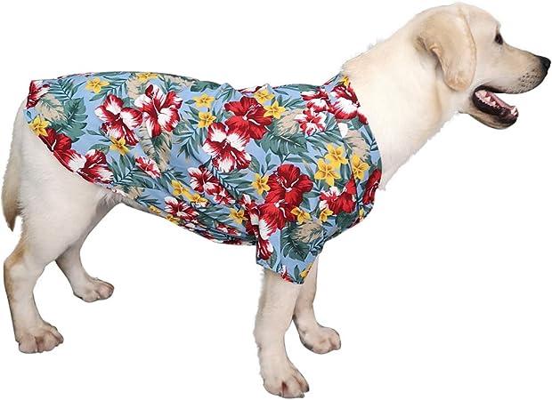 Hawaiian Dog T-Shirt Pet Summer Camp Clothes Apparel for Large Medium Small Dog Puppies Cat