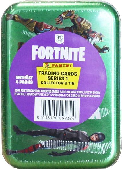 Panini Fortnite Serie 1 Trading Cards Collectors Tin Box Mini Tin