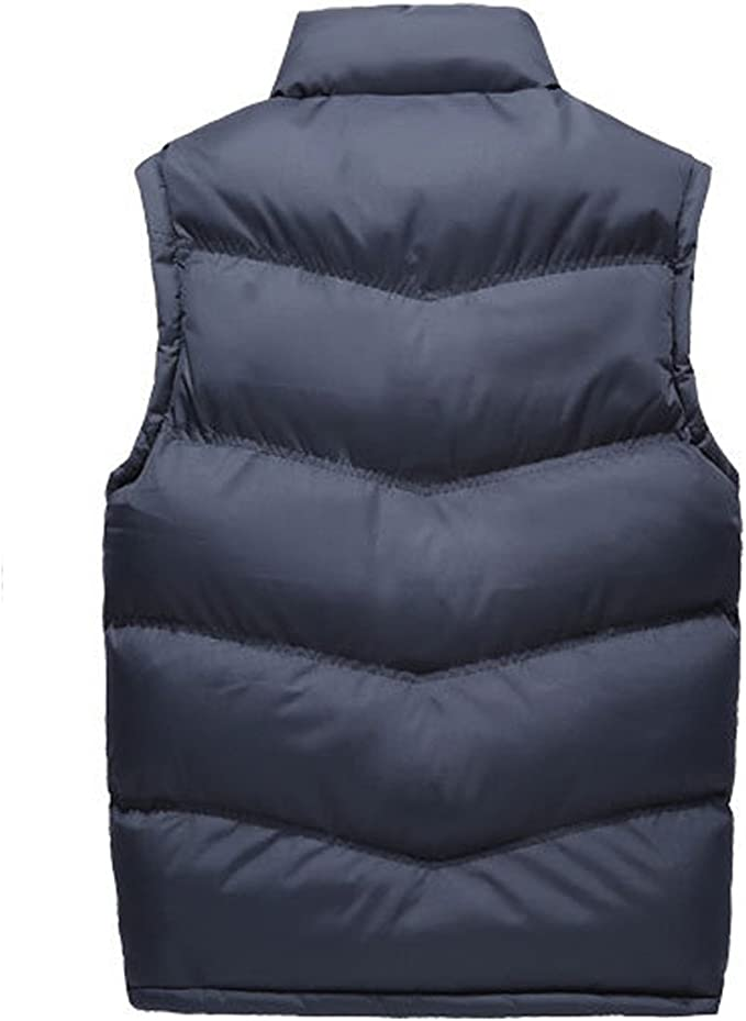 Boyland Mens Down Vest Casual Slim Fit Sleeveless Padded Down Jacket Zipper 4 Colors