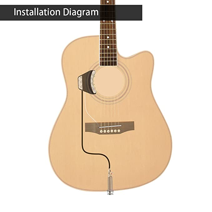 Amazon Double B1g Soundhole Control Preamp Pickup System For