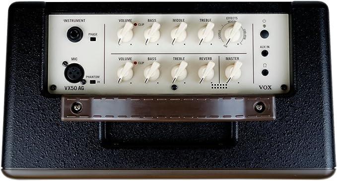 VOX VX50-AG 50W - Amplificador acústico compacto para guitarra con tubo de vacío NuTube: Amazon.es: Instrumentos musicales