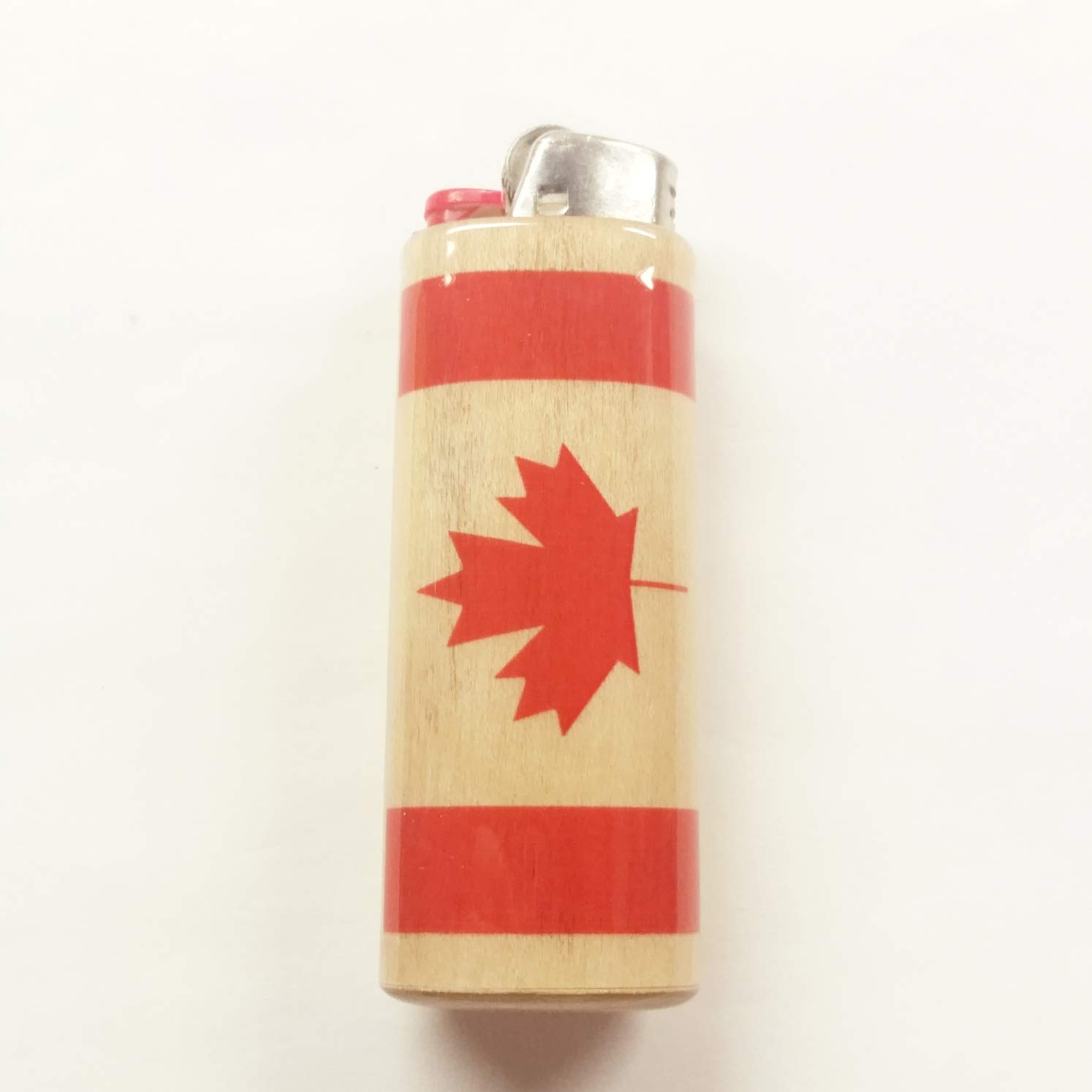 Canadian Flag Lighter Case Holder Sleeve Cover Fits Bic Lighters