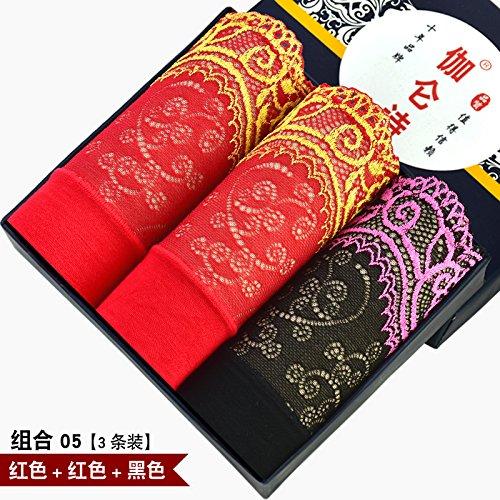 Fibra de bambú señoras sexy Underwear underwear briefs cintura alta cintura tamaño 3pcs,o,m Greatlpk f