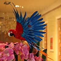Flameer Artificial Parrot Garden Bird Decor Realistic Bird Multi-Color DIY Decor