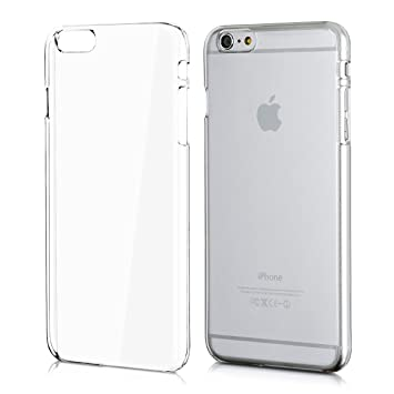 kwmobile Funda para Apple iPhone 6 Plus / 6S Plus - Carcasa de plástico para móvil - Protector trasero en transparente