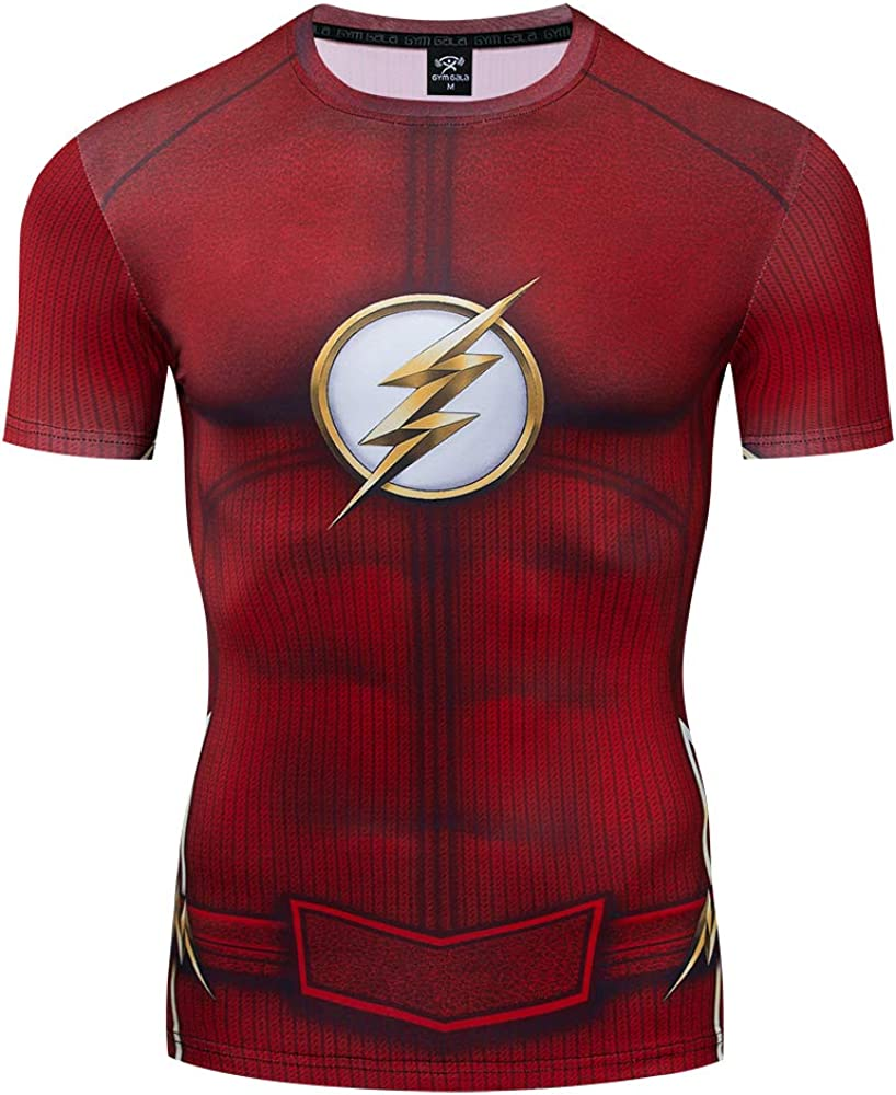 GYM GALA The Flash T-Shirt Casual and Sports Compression Shirt