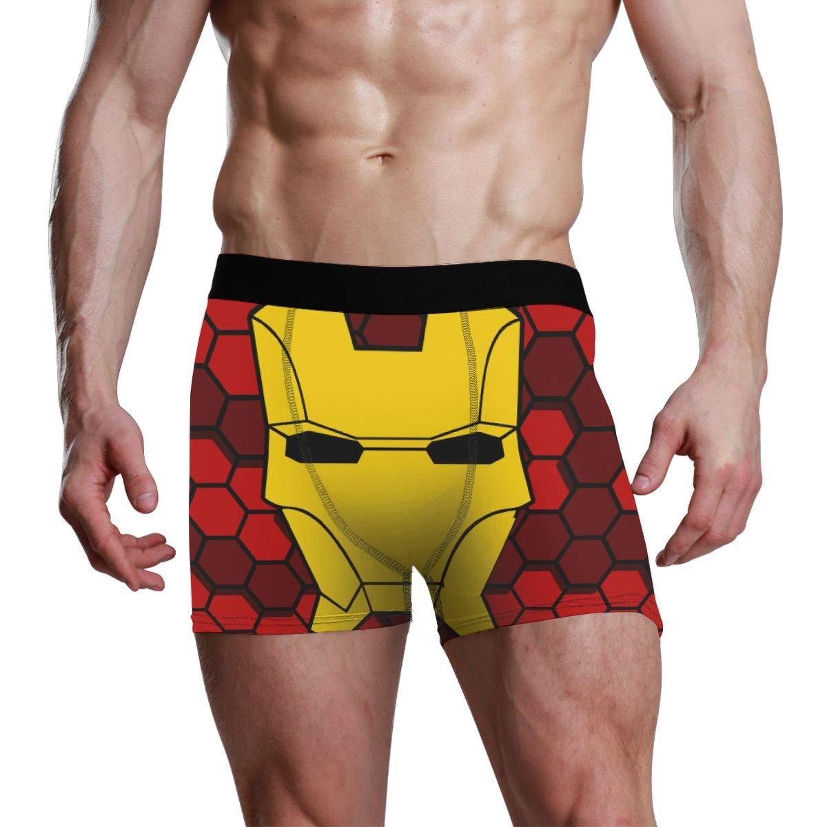 Iron Man Boxer Briefs Mens Underwear Pack Seamless Comfort Soft