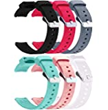 RuenTech Compatible with Garmin Vivoactive 4S Band 18mm Silicone Sport Straps Soft Wristbands for Vivoactive 4S Watch…