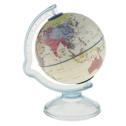 Amazon Com Fityle 2 In 1 Desktop Spinning World Map Globe Piggy