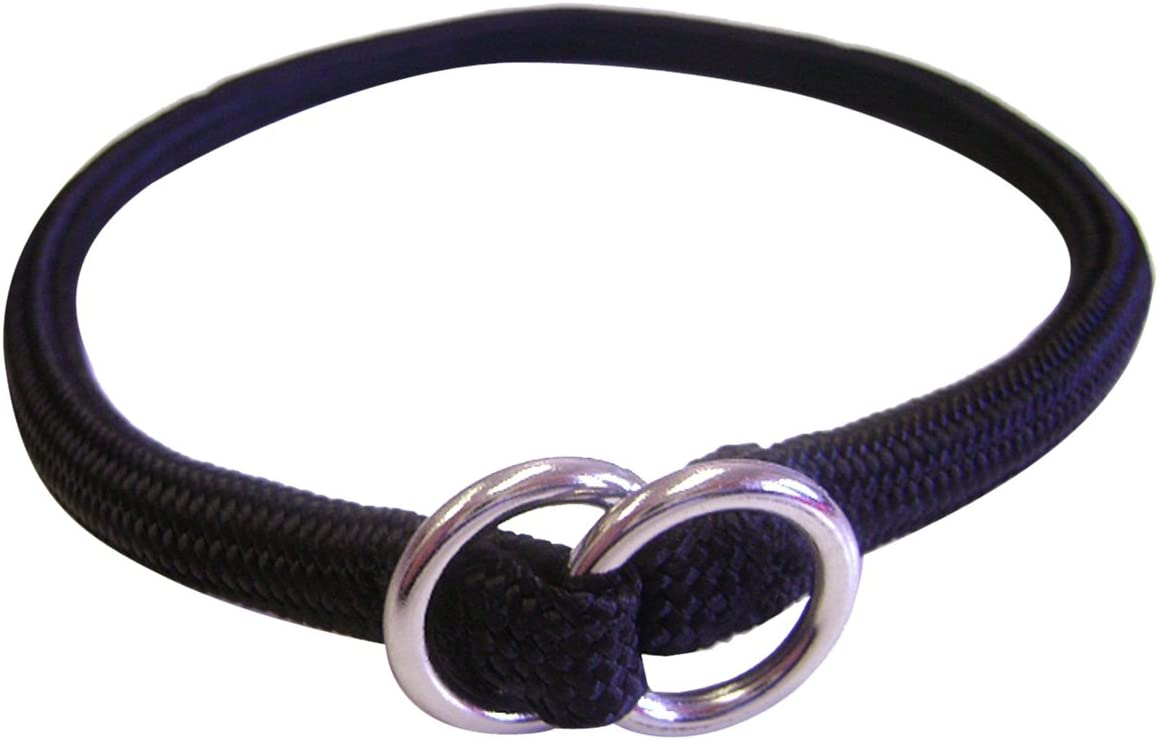 Hamilton 831 PU 3//8-Inch by 24-Inch Round Braided Choke Nylon Dog Collar Purple