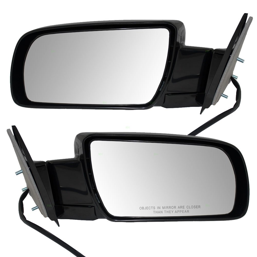 Aftermarket Replacement Driver and Passenger Pair Power Side Door Mirrors Metal Base Compatible with 88-99 Old Body Style Pickup Truck SUV