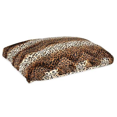 Pet Beds Direct Animales Depredadores – Cojín. Marrón Leopardo Suave Sudadera para Almohada. Cama