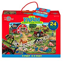 T.S. Shure On the Farm Jumbo Floor Puzzle