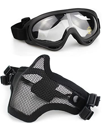 9ea57773b6 Aoutacc Airsoft Mask and Goggles Set