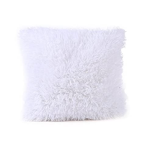 VJGOAL Preciosa Funda de Almohada de Felpa Sofá Cintura Throw Cojín Decoración para El Hogar 43 cm x 43 cm