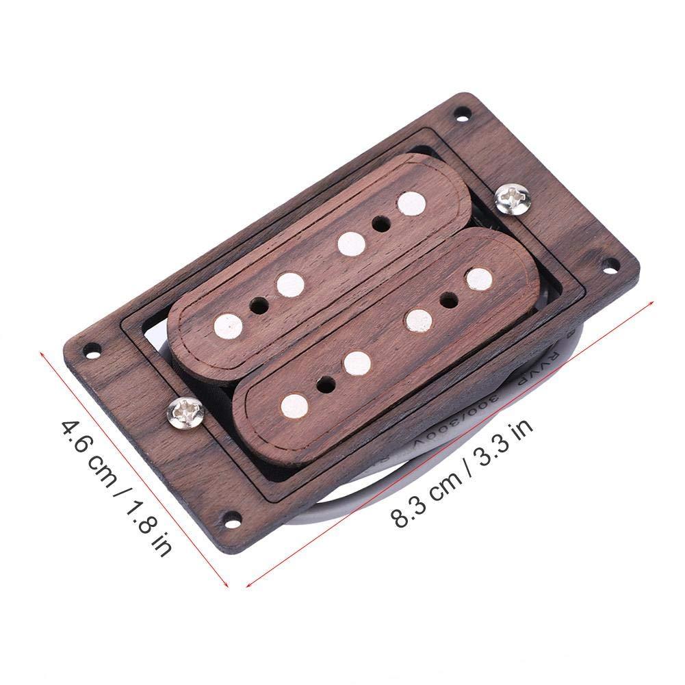 Pre cableado Magn/ético Humbucker Pickup con Tornillos para 4 Cuerdas Cigar Box Piezas de Accesorios de Guitarra Dilwe Guitarra Humbucker Pickup