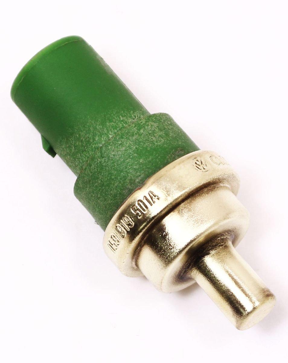 Genuine / OE Audi Volkswagen Engine Coolant / Water Temperature Sensor - Audi / VW OE #: 059919501A - Green, 20mm, 4 Pin
