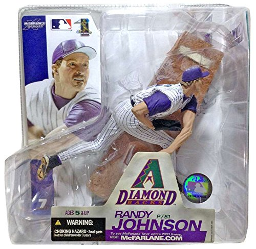 Johnson Mlb Baseball (MLB Series 7 Figure: Randy Johnson in Striped Diamond Backs Uniform)