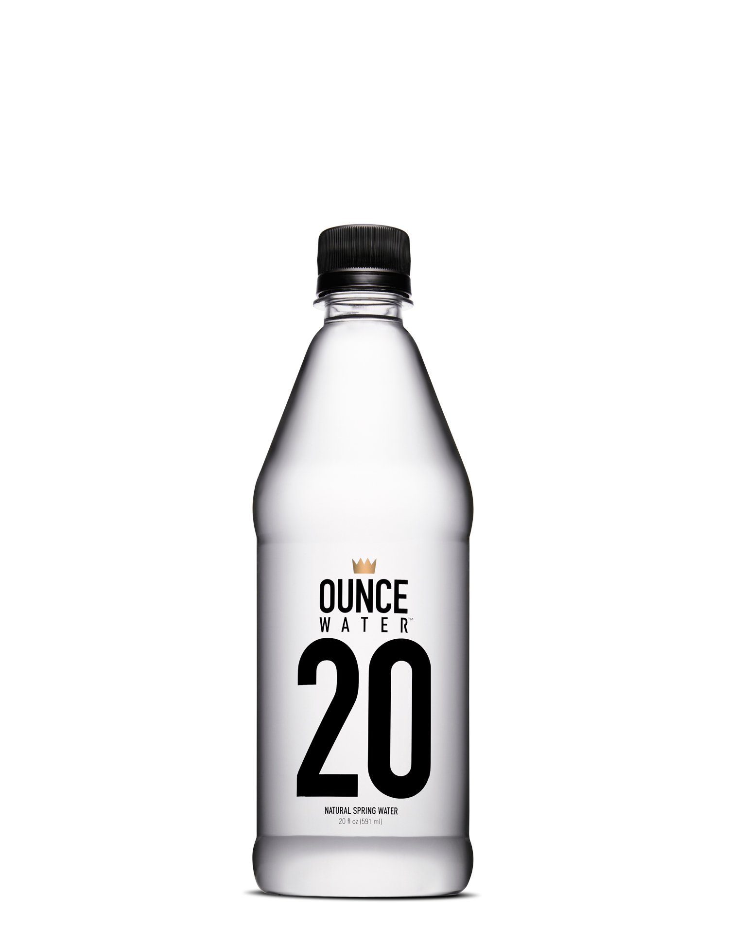 Ounce Water Bottled Natural Spring Water, 20 Ounce (Pack of 24),