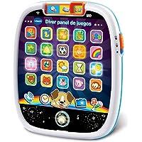 VTech - Díver Panel de Juegos, Juguete bebé +12 Meses, Tableta educativa Infantil con Luces, Sonidos y Canciones, enseña…