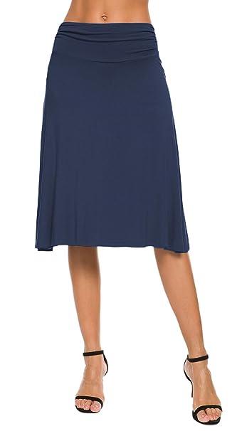 EXCHIC Falda de Yoga para Mujer con Mini Llamarada