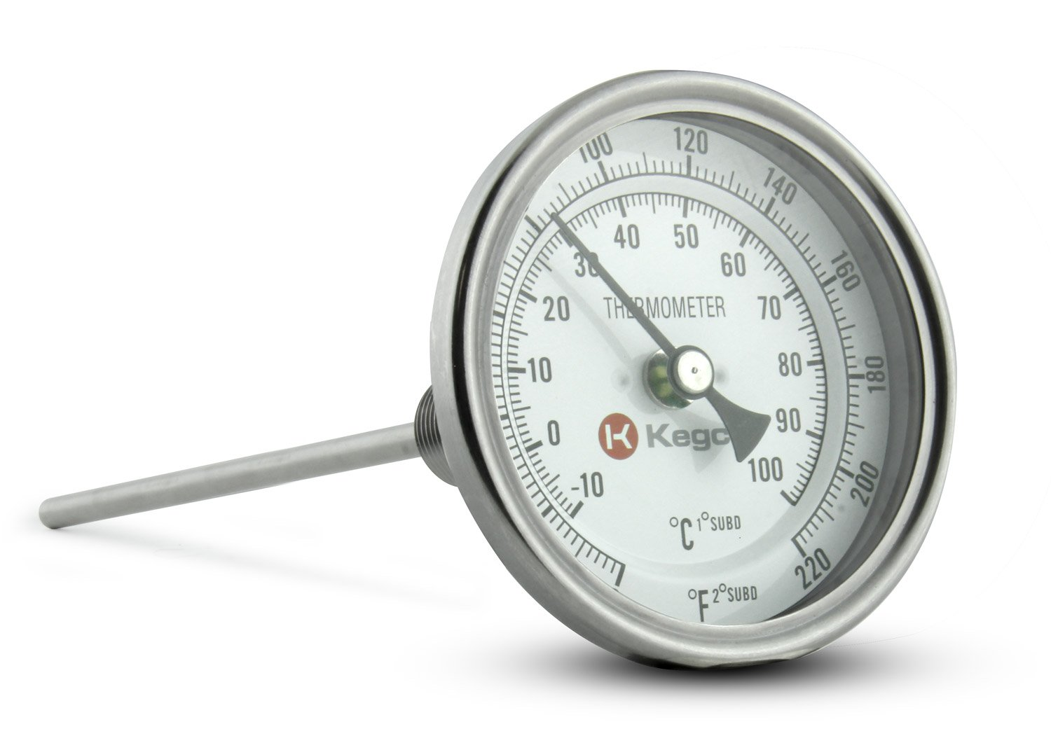 Kegco BPTHERM Homebrew Dial Thermometer for Home Brewing Pots