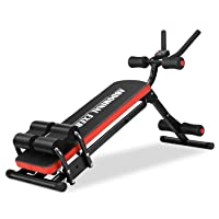 IDEER LIFE Core&Abdominal Trainers Abdominal Workout Machine,Whole Body Workout Equipment for Leg,Thighs,Buttocks,Rodeo,Sit-up Exercise Home Ab Trainer w/ 3 Levels,LCD Display.