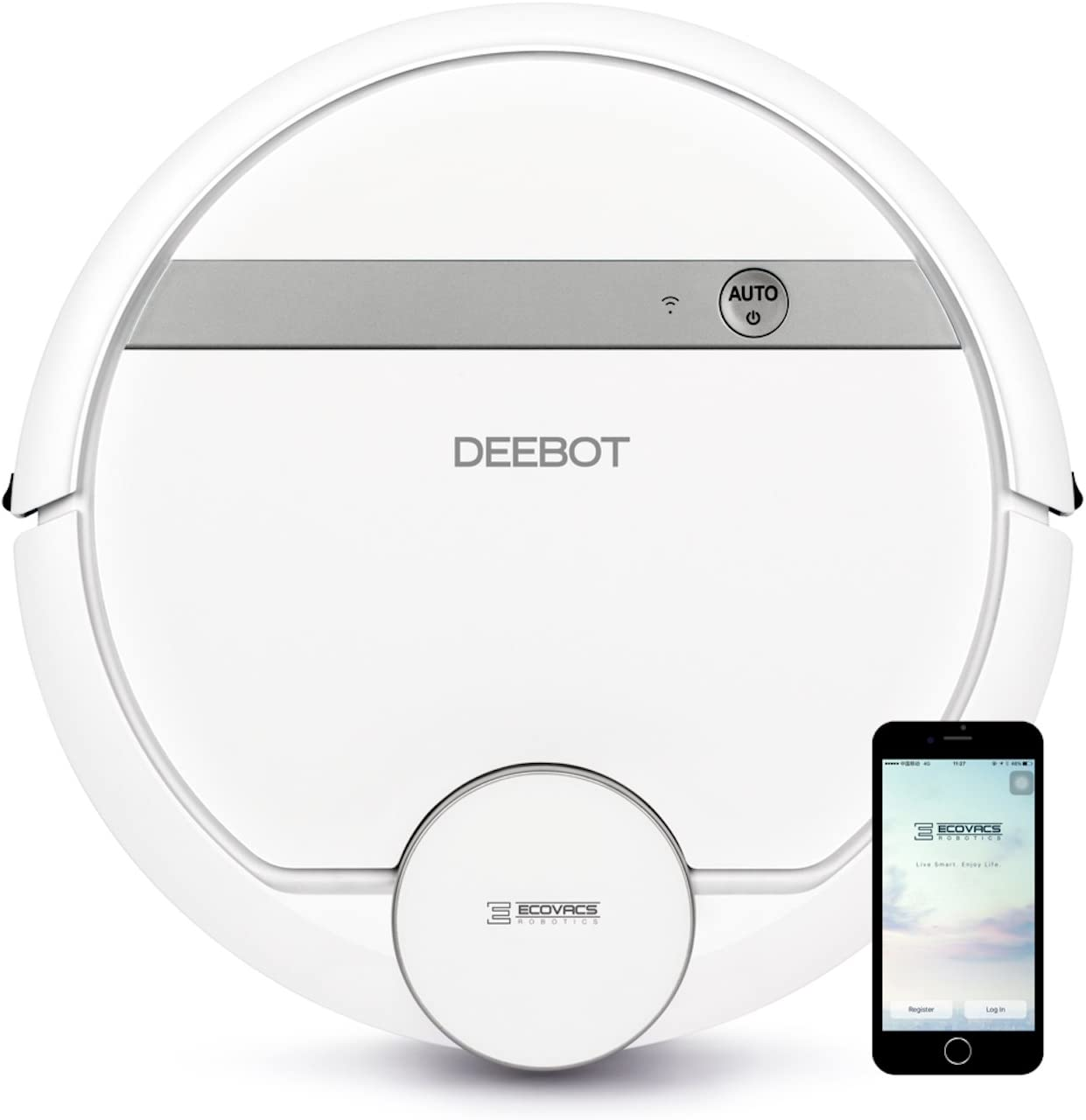 Renewed Mapping Technology with Alexa Google Assistant Pet Hair WiFi Ecovacs DEEBOT 900 Smart Robotic Vacuum High Suction Power Bare Floors Carpet