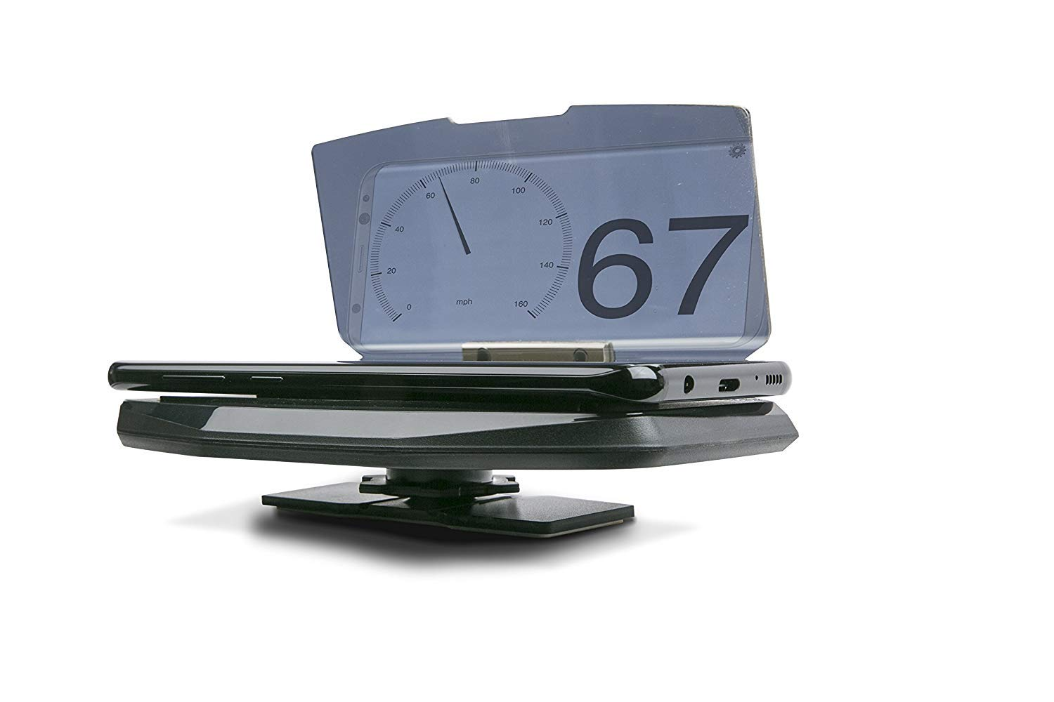 Scosche HUDSPI Heads-up Display Platform for Smartphone Devices Running HUD Applications for use in Any Vehicle