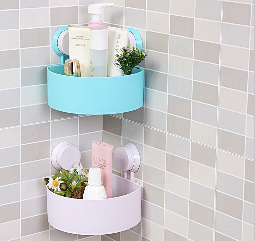 Amazon.com: Dealglad® New Bathroom Corner Suction Cup Bath Rack ...