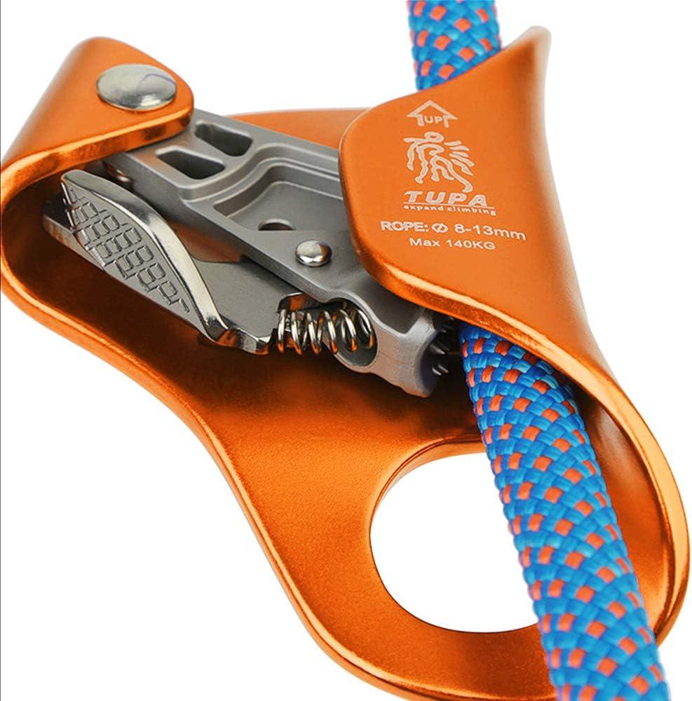 Lixada Bloqueador de Pecho Ascender Escalada para Cuerda Vertical Escalada Rescate Espeleolog/ía 8-13mm