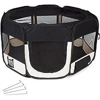 TecTake Welpenlaufstall Tierlaufstall für Kleintiere wie Hunde, Katzen - diverse Farben -